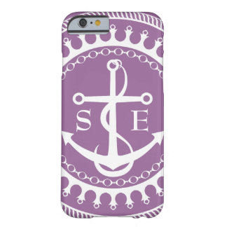 StellaRoot Anchor Down Purple Preppy Barely There iPhone 6 Case