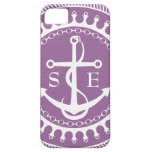 StellaRoot Anchor Down Purple Preppy Personalize iPhone 5 Cover
