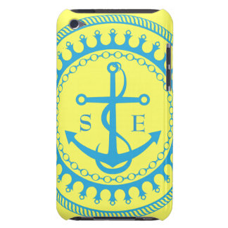 StellaRoot Anchor Yellow Aqua Preppy Personalize Barely There iPod Cover