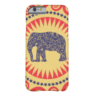 StellaRoot Damask Elephant Vinatge Preppy Burnt Barely There iPhone 6 Case