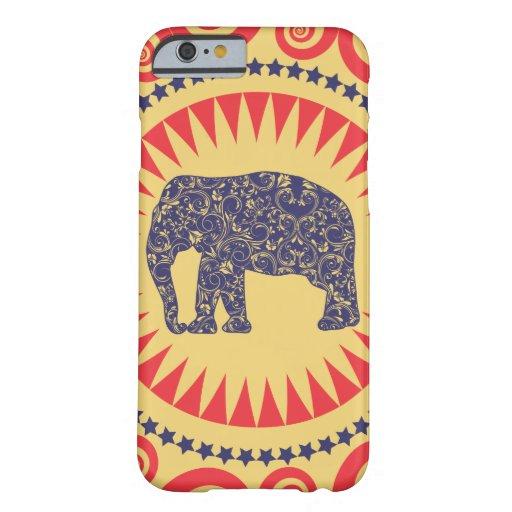 StellaRoot Damask Elephant Vinatge Preppy Burnt iPhone 6 Case