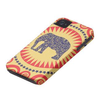 StellaRoot Damask Elephant Vinatge Preppy Burnt iPhone 4 Case