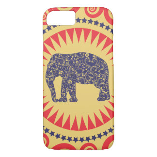 StellaRoot Damask Elephant Vinatge Preppy Burnt iPhone 7 Case