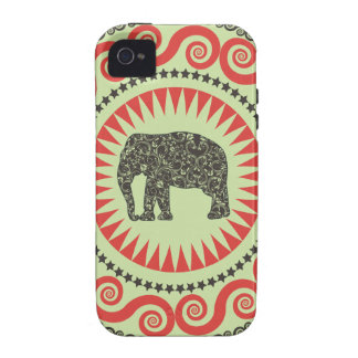 StellaRoot Damask Elephant Vinatge Preppy Moss Vibe iPhone 4 Cover