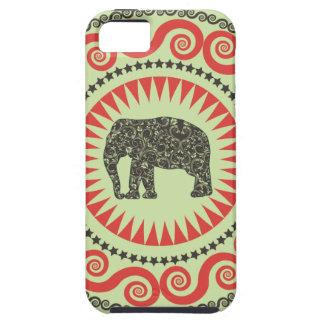 StellaRoot Damask Elephant Vinatge Preppy Moss iPhone 5 Cover