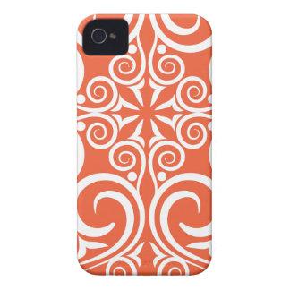StellaRoot Damask Vintage Pattern Celtic Orange iPhone 4 Case-Mate Cases