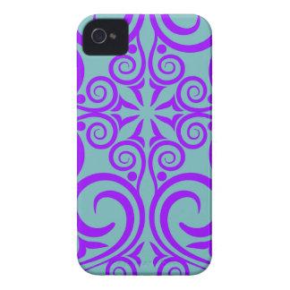 StellaRoot Damask Vintage Pattern Celtic Purple iPhone 4 Case-Mate Case