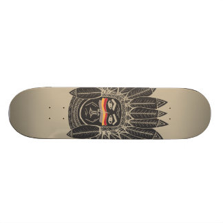 StellaRoot Drawn Chief Indian Head Dress Skateboard