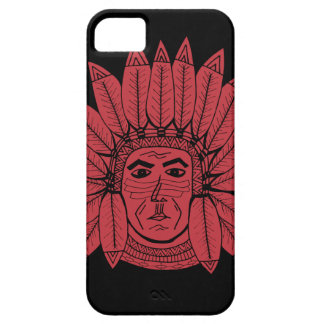 StellaRoot Drawn Vintage Chief Indian iPhone SE/5/5s Case