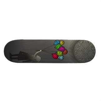 StellaRoot Dreaming Girl Balloons Under the Sun Skate Board Decks