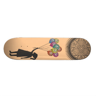 StellaRoot Dreaming Girl Balloons Under the Sun Skateboard Decks