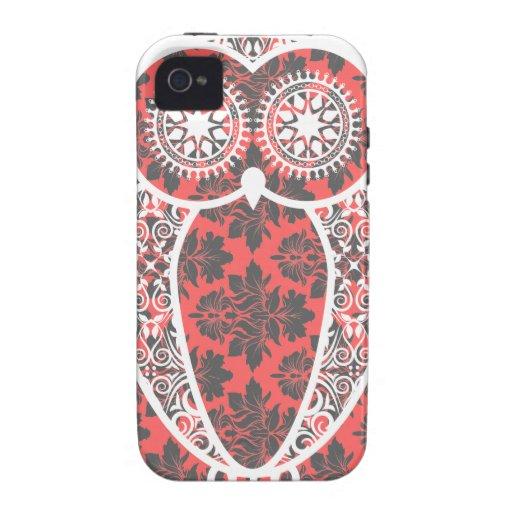 StellaRoot Hootie Owl Damask Case-Mate iPhone 4 Cases