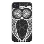 StellaRoot Hootie Owl Damask Grunge iPhone 4 Case