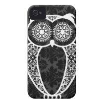 StellaRoot Hootie Owl Damask Grunge iPhone 4 Case-Mate Case
