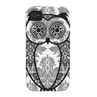 StellaRoot Hootie Owl Damask Pattern Case For The iPhone 4