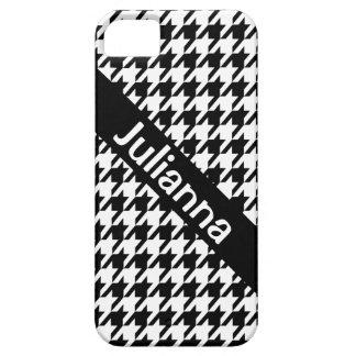 StellaRoot Houndstooth Black Vintage iPhone SE/5/5s Case