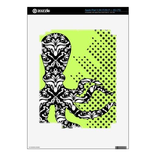 StellaRoot Octopus Damask Grunge iPad 3 Skins