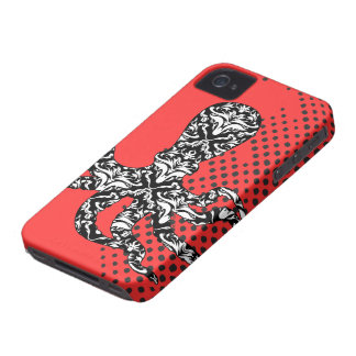 StellaRoot Octopus Pink Preppy Dots iPhone 4 Cover