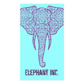 StellaRoot Peace Elephant Business Card on Blue