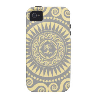 StellaRoot Peace Tree Pattern Grey Case-Mate iPhone 4 Cases