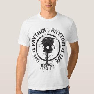 StellaRoot Rhythm Is Life Black Tee Shirt