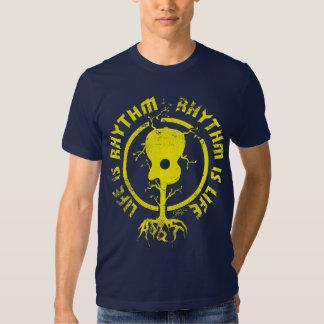 StellaRoot Rhythm Is Life Gold Shirt