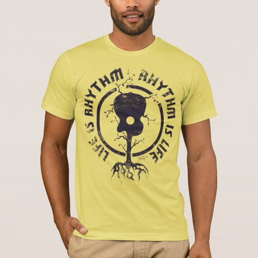 StellaRoot Rhythm Is Life Navy T-Shirt