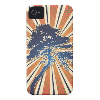 StellaRoot Summer Sun Damask Rays African Tree iPhone 4 Cover
