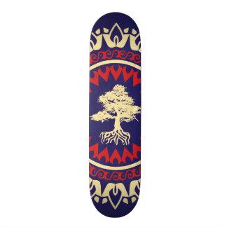 StellaRoot Tree RNC Red Navy Cream Pattern Skateboards