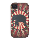 StellaRoot Vintage Circus Elephant Free Mandarin iPhone 4/4S Covers