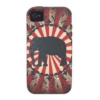 StellaRoot Vintage Circus Elephant Free Mandarin iPhone 4 Cases