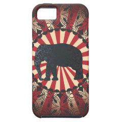 StellaRoot Vintage Circus Elephant Free Mandarin iPhone 5 Case