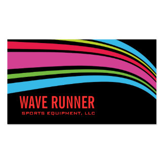 StellaRoot Wave Neon Double-Sided Standard Business Cards (Pack Of 100)