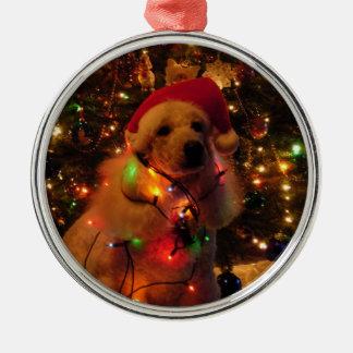 Stella's Christmas Round Metal Christmas Ornament
