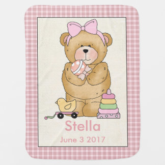 Stella's Personalized Baby Bear Blanket