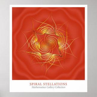 Stellations espiral póster