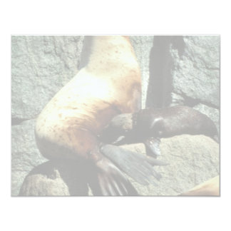 Steller Sea Lion and Pup Personalized Invitation