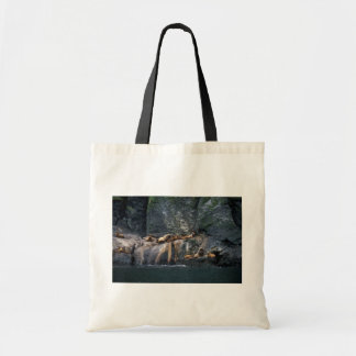 Steller Sea Lion Haulout in the Aleutian Islands Canvas Bags