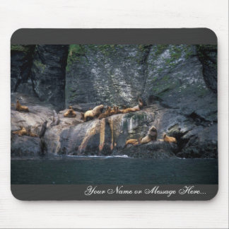 Steller Sea Lion Haulout in the Aleutian Islands Mouse Pad