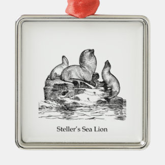 Steller Sea Lion Metal Ornament