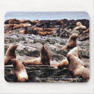 Steller Sea Lions at Haulout Mouse Pad