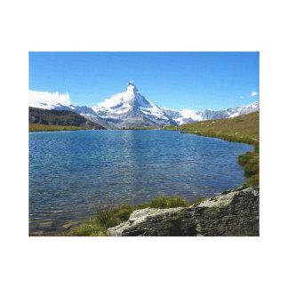 Stellisee, Valais Alps Canvas Print