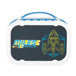 Blue yubo Lunch Box with Stellosphere Badge design