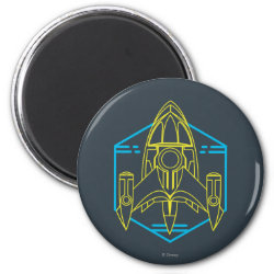 Round Magnet with Stellosphere Badge design
