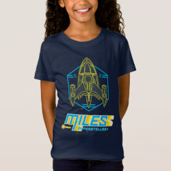 Girls' Fine Jersey T-Shirt with Stellosphere Badge design