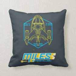 Cotton Throw Pillow with Stellosphere Badge design