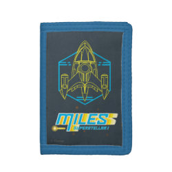 TriFold Nylon Wallet with Stellosphere Badge design