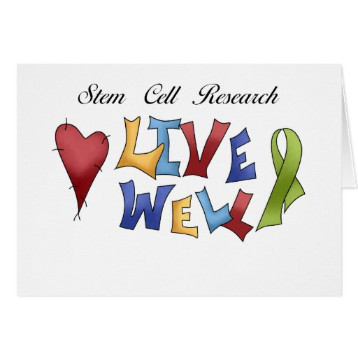 Stem Cell Research Greeting Card