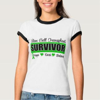 Stem Cell Transplant Survivor Badge T-Shirt