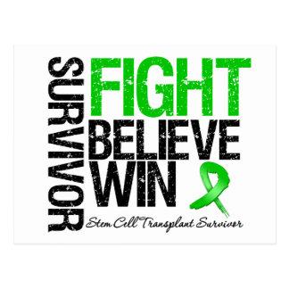 Stem Cell Transplant Survivor Fight Believe Win Post Card